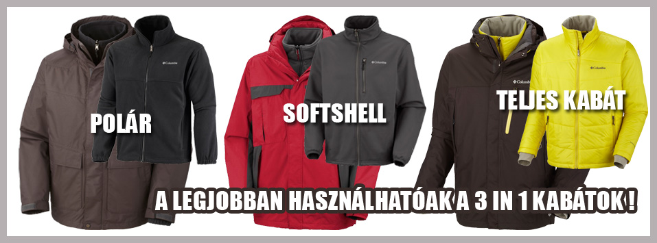 3 az egyben kabátok! Kivehető béléses kabátok
