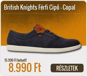 British Knights Férfi Cipő Copal -  B38-3642-02-Navy-Cognac
