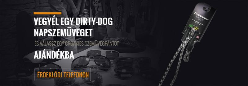 Dirty Dog napszemüveg ajándék Croakies szemüvegpánttal