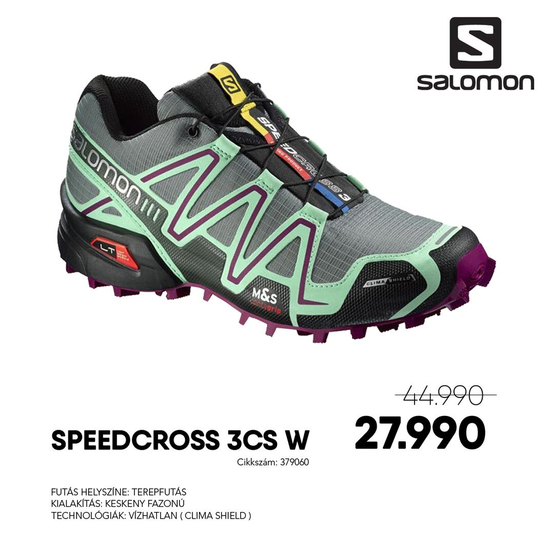 Salomon Terep Futócipő SPEEDCROSS 3 CS W - 379060-TT_LUCITE_GRE_MY