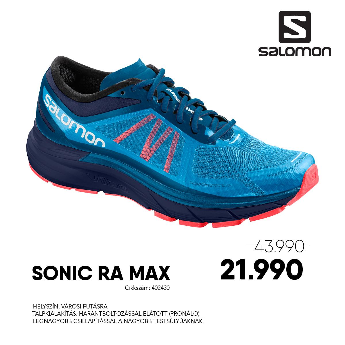 Salomon Futócipő SONIC RA MAX - 402430-Hawaiian_Medieval_BC