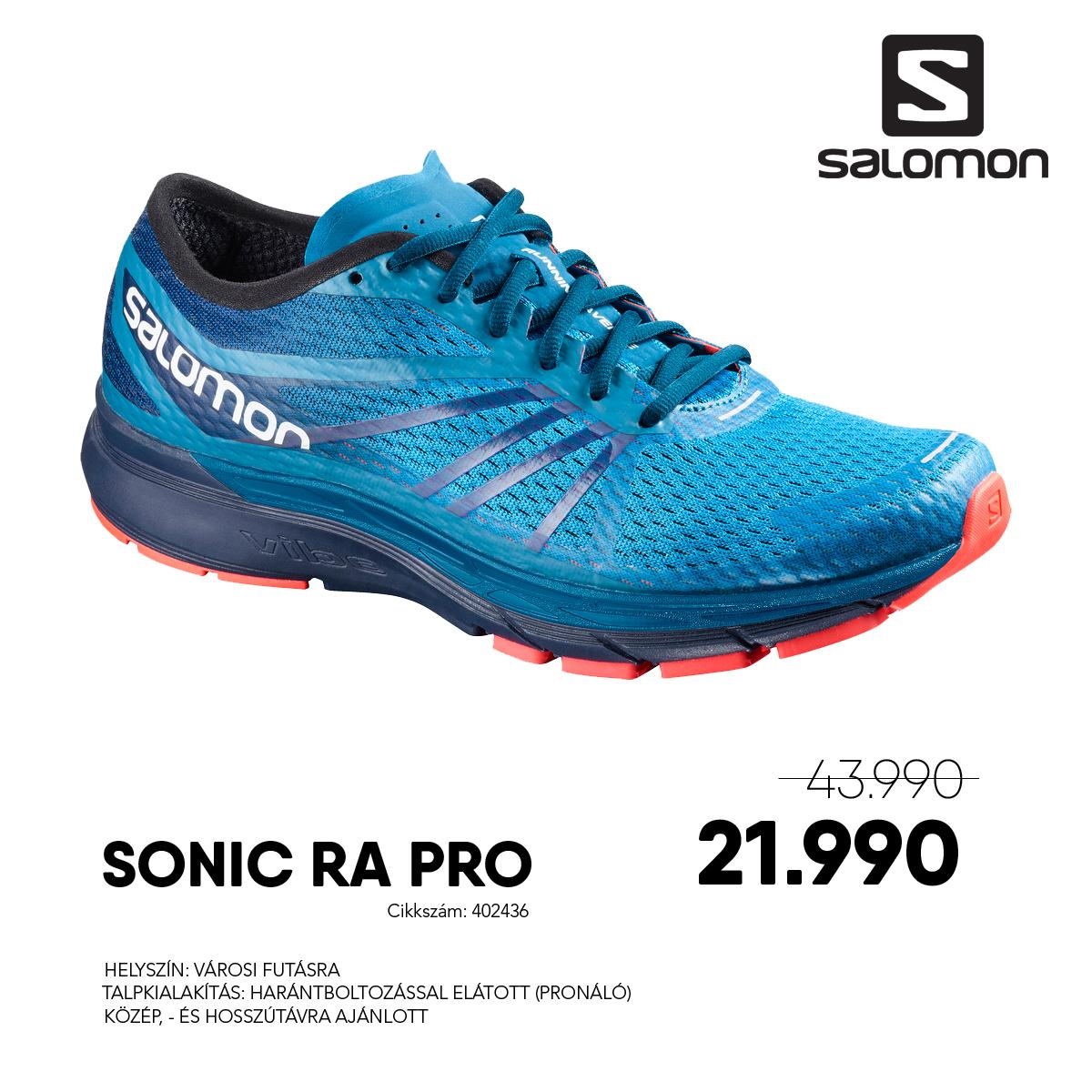 Salomon Futócipő SONIC RA PRO - 402436-Hawaiian_Surf_Bk_Bk