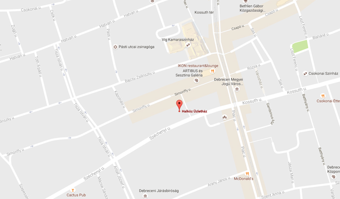Halköz Üzletház - Térkép