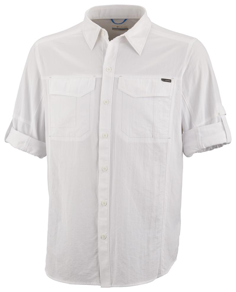 Columbia Ing AM7453_100-Silver_Ridge_Long_Sleeve_Shirt-White