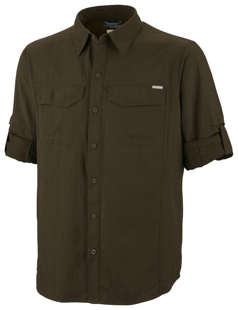 Columbia Ing AM7453_213-Silver_Ridge_Long_Sleeve_Shirt-Peatmoss