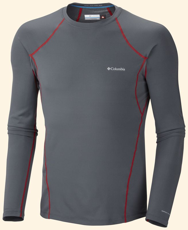Columbia Férfi Aláöltöző Men's Midweight Long Sleeve Top-Graphite